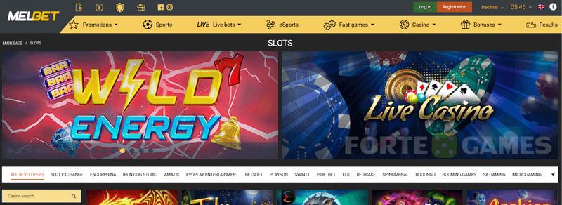 melbet casino homepage